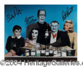 Autographs, Cast of Munsters Horror Comedy Signed Litho