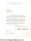 Autographs, Jim Nabors signed document