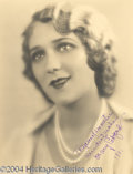 Autographs, Mary Pickford signed 6.5x8.5