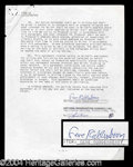 Autographs, Gene Roddenberry Vintage Signed Document