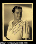 Autographs, Charles Buddy Rogers Vintage Signed Photo