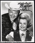 Autographs, Roy Rogers & Dale Evans Signed Photo