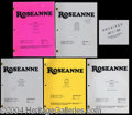 Autographs, Roseanne TV Show Lot of 5 Scripts