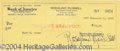 Autographs, Rosalind Russell signed check