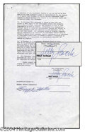 Autographs, Telly Savalas Vintage Signed Document
