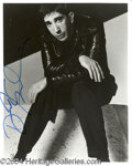Autographs, David Schwimmer Signed 8 x 10 Photo