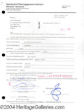 Autographs, Gene Simmons signed document