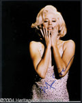 Autographs, Mira Sorvino Signed 11 x 14 as Marilyn
