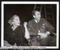 Autographs, Jimmy Stewart & Joan Fontaine Signed Photo