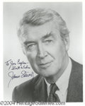 Autographs, Jimmy Stewart signed 8x10