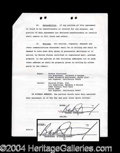 Autographs, Barbara Streisand Scarce Signed Document
