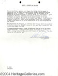 Autographs, Patrick Swayze signed document