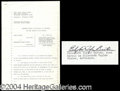 Autographs, Elizabeth Taylor Vintage Signed Document