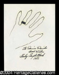 Autographs, Shirley Temple Black Signed Hand Sketch
