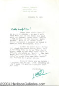 Autographs, Lowell Thomas signed letter to Joan Crawford