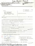 Autographs, Ted Turner signed document