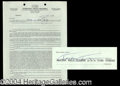 Autographs, Tina Turner Signed Document