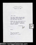 Autographs, Robert Wise Typed Letter Signed