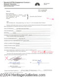 Autographs, Renee Zellweger signed document