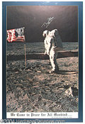 Autographs, Buzz Aldrin Signed Framed Apollo 11 Poster