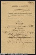 Autographs, Napoleon Bonaparte Signed French Document