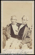 Autographs, Chang & Eng Bunker Siamese Twins Signed CDV