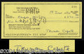 Autographs, Truman Capote Signed Bank Check
