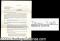 Autographs, Truman Capote Signed Document