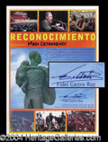 Autographs, Fidel Castro Signed Cuban Merit Award