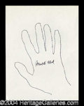 Autographs, Mark W. Clark Signed Hand Sketch