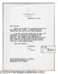Autographs, Bill Clinton Rare Signed Letter as President
