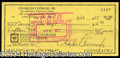Autographs, Charles Conrad (Apollo 12) Signed Bank Check