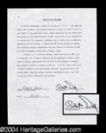 Autographs, Bob Dole Signed Document