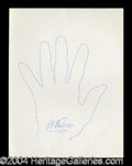 Autographs, James H. Doolittle Signed Hand Sketch