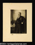 Autographs, Benjamin Harrison Original 1901 Engraving