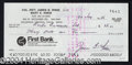 Autographs, Jim Irwin Apollo 15 Signed Bank Check