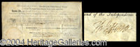 Thomas Jefferson & Madison Signed Land Grant - Choice signed document as president, one page, 16 x 9, April 7, 1806...