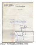 Autographs, Lyndon B. Johnson Signed Letter as Senator