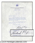 Autographs, Richard Nixon Signed Letter as VP