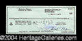 Autographs, Richard Nixon Scarce Signed Bank Check
