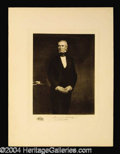 Autographs, James K. Polk Original 1901 Engraving