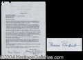 Autographs, Eleanor Roosevelt Vintage Signed Document