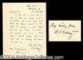 Autographs, Winfield Scott Schley ALS Signed Letter