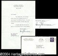 Autographs, Harry Truman Signed Typed Letter