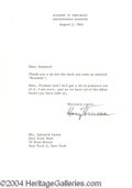 Autographs, Harry Truman Signed Letter 8-2-63