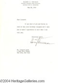 Autographs, Harry Truman Signed Letter 5-18-55