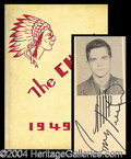 Autographs, Conway Twitty Signed '49 High School Yearbook