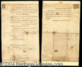 Autographs, George Washington Rare Signed Document