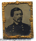 Political:Ferrotypes / Photo Badges (pre-1896), FINE LARGE MCCLELLAN ABBOTT TINTYPE. This large beauty makes a p...