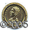 Political:Tokens & Medals, SUPERB GILT BRASS 1844 HENRY CLAY HOLLOW SHELL. These gorgeous h...